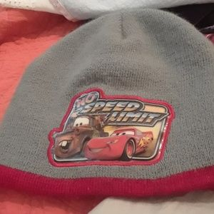 Disney Cars gray & red beanie